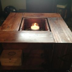 The wine crate coffe table I built. Inspired by pics from pintrist.