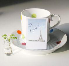 Cute Polaroid Paris Sticky Notes. - Pink Circus