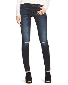 White House | Black Market Saint Honore Distressed Skinny Jeans #whbm