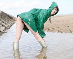 Miss America Contestants, Mudding Girls, Wellies Rain Boots, Rain Cape, Pvc Raincoat, Rain Wear, Girls In Love, Beautiful Legs, Girls Wear