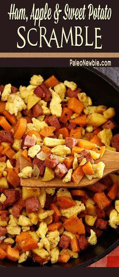 Ham, Apple & Sweet Potato Scramble