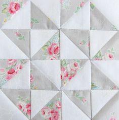 FWQAL 41 - Gray White 1 Flower Sugar Lecien   www.prettybyha…   Pretty by Hand   Flickr