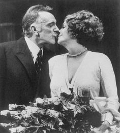 Richard Burton and Elizabeth Taylor Broadway at the Lunt Fontanne Theater.   Richard Burton gives his former wife Elizabeth Taylor a kiss following ...