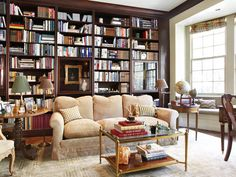 Traditional take on the library! #library Bookcase #decor #home