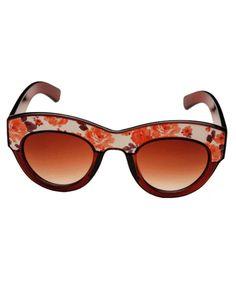 Vintage Floral Print Sunglasses $17.00