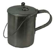 """This Stainless Steel """"Mucket"""" is the best of both worlds, a Mug and a Boiling Pot (Bucket.) Makes a perfect mess kit and a Nesting Cup will still fit inside."""