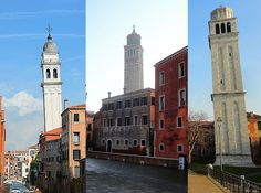 3 the most leaning towers in Venice