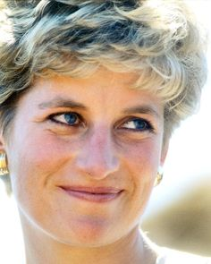 July 12, 1993 Princess Diana during a visit to Nemazura Feeding Centre, a Red Cross project for refugees in Mazera, Zimbabwe