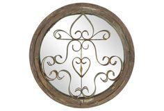 English Round Mirror w/ Iron Remnant