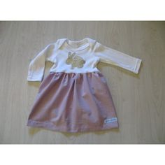 onesie dress long sleeve lilac cotton chambre