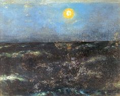 August Strindberg:   The sea in the moonlight, 1874,  oil on canvas, 39 x 47 cm.  Previously in a private collection, now lost.