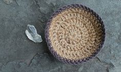 jute + cotton | rounded table top bowl
