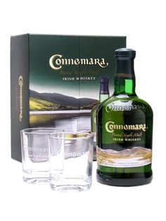 Connemara Peated Irish Whiskey Glass Pack : Buy Online - The Whisky Exchange - A bottle of Connemara, Ireland's superb peated single malt whiskey, supplied in a gift pack with two branded glasses from which to sup it.    San Francisco World Spirits Competition 2010: Double Go... £36.44 including shipping