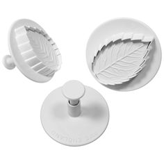 PME RLL660 Plunger Cutters, Veined Rose Leaf * Amazing deals just a click away : Baking Accessories
