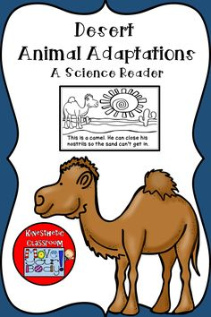 A little coloring book that teaches about adaptations in desert animals. Animals included are an ostrich, a scorpion, a camel, a gecko, a meerkat, a jackrabbit, a desert tortoise, and a fennec fox.