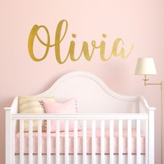 The cutest Personalized name decal! Need this in my baby's nursery.