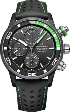 Maurice Lacroix - Pontos S Extreme   PT6028-ALB01-332-1 Amazing Watches, Cool Watches, Sport Watches, Watches For Men, Casio Watch, Fashion Watches, Colour Black, Latest Watches, Gents Watches