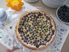 Finnish Yogurt Blueberry Pie - Mustikkapiiras - Super Easy To Make!