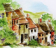 Art Impressions stamp - English Village (Sku#M3491)