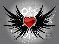 Illustration about Glossy red heart on grunge wings background. Illustration of button, romance, heart - 17949032 Gothic Wallpaper, Heart Wallpaper, Love Wallpaper, Heart With Wings Tattoo, Heart Coloring Pages, Sparkles Background, Angel Tattoo Designs, Grunge, Butterfly Drawing