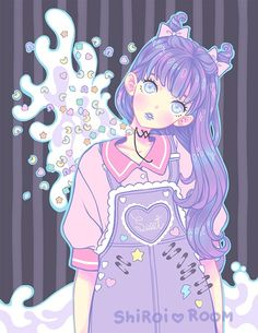 aesthetic anime art art girl background beautiful beautiful girl beauty cartoon colorful design drawing fashion fashionable girl girly illustration girl inspiration kawaii luxury pastel pink pretty sweet lolita wallpapers we heart Cartoon Kunst, Cartoon Drawings, Cartoon Art, Cute Drawings, Cartoon Characters, Kawaii Anime, Kawaii Art, Pastel Goth Art, Pastel Decor