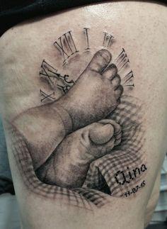 By Adrink #tattoo #pies #bebé #tatuaje
