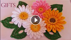 Hello everyone.  I want to share with you this video tutorial of how to crochet a spring flower. This video is made by Soraia Bogossian and explain you in minimal detail how to make this artwork. Complexity: Beginner Hope you like it. Please comment here if you have any question! Source : Soraia Bogossian