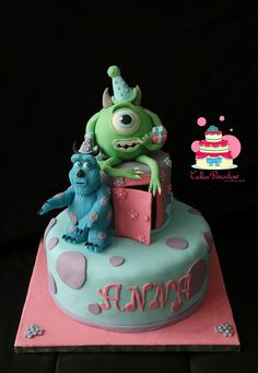 Monsters and cie cake