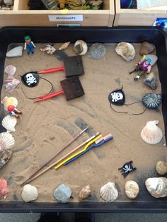 Pirate mark making sand tray
