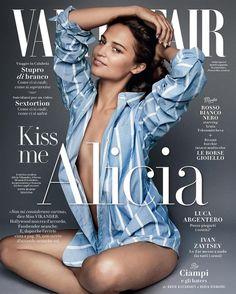 Alicia Vikander by Mario Testino for Vanity Fair Italia October 2016 Cover