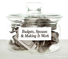 Don't fight about budgets and money with your spouse! Here are a few tips that we've found that make it work in our marriage!