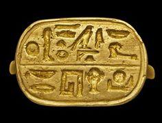 An Egyptian Electrum gold ring late period, Dynasty XXIX-XXX, circa 399-343 BC.