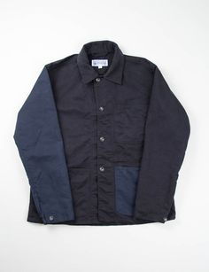 Engineered Garments Workaday Navy/Black Combo Bedford Cord Utility Jacket