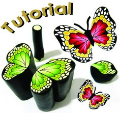 Polymer Clay Canes Tutorials | Tutorial BUTTERFLY cane polymer clay cane by marsdesign on Etsy