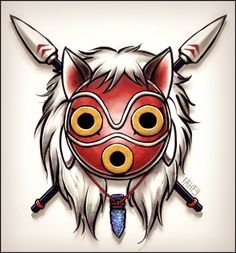 mononoke tattoo design by IαнƒУ