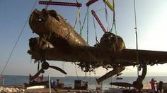 Major Museum Effort!  A German World War II bomber salvaged from the English Channel has arrived at an RAF museum where it will undergo the first stage of conservation. The badly-damaged Dornier Do-17 aircraft was transported from Ramsgate to RAF Cosford in Shropshire. It was lifted from the seabed more than 70 years after it was shot down during the Battle of Britain.