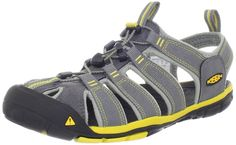 Keen Clearwater Cnx, Men Hiking Sandals, Grey (Gargoyle/Super Lemon), 10 UK (44 1/2 EU)