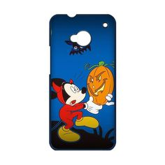 Halloween Mickey Holding A Pumpkin Case for HTC One M7