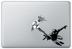 Macbook Humor Decal Sticker Spiderman