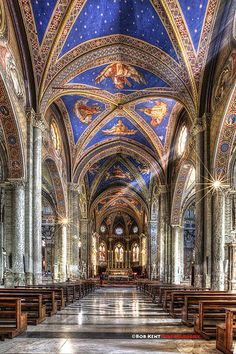 Santa Maria sopra Minerva Catholic Church, Rome, Italy by Bob Kent