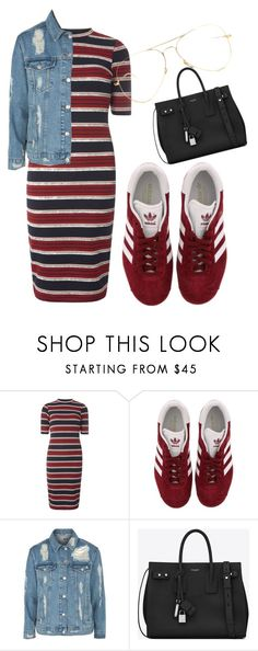 """Untitled #113"" by misszoe101 on Polyvore featuring Dorothy Perkins, adidas, Topshop and Yves Saint Laurent"