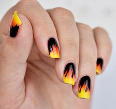 Nisinails De Fire Nails Flame Nageldesign Mit Flammen Und Led T Nail