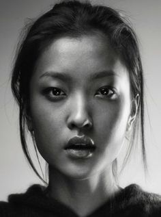 woman face black and white - Google Search