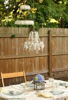 DIY :: Dressed Up Lamp Shade Frames | Lamp shade frame, Repurposed ...