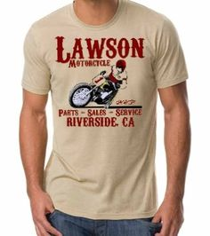 Old Lawson Motorcycle tee