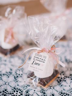 S' more wedding favors