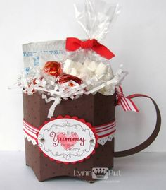 Pillow Box Bucket Tutorial - Hot Coco Cup