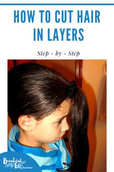 How to Cut Hair in Layers Step by Step! So easy, you can do it in just 5 minutes!   How to cut hair at home    ponytail haircut   easy haircuts   ponytail haircut method   How to unicorn cut hair   ponytail haircut DIY #haircut Easy Hair Cuts, Medium Hair Cuts, Medium Hair Styles, Ponytail Haircut, Ponytail Hairstyles, Pretty Hairstyles, How To Cut Your Own Hair, Your Hair, Cut Hair At Home