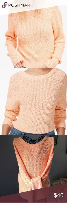 Free People neon orange chunky knit sweater Large Brand new! Super comfy Free People chunky knit sweater in a fun, summery orange color! Perfect for a summer beach sunset! Size Large. Oversized fit. Great for back to school! 📓📚✏️ Free People Sweaters Crew & Scoop Necks