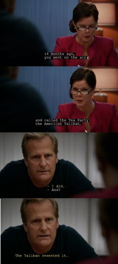 'The Newsroom' awesome scene with Jeff Daniels and Marcia Gay Hardin about teabaggers.
